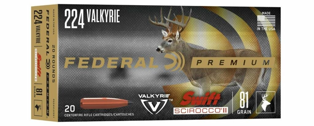 Federal Premium Swift Scirocco II in 224 valkyrie, 350 legend, 450 bushmaster
