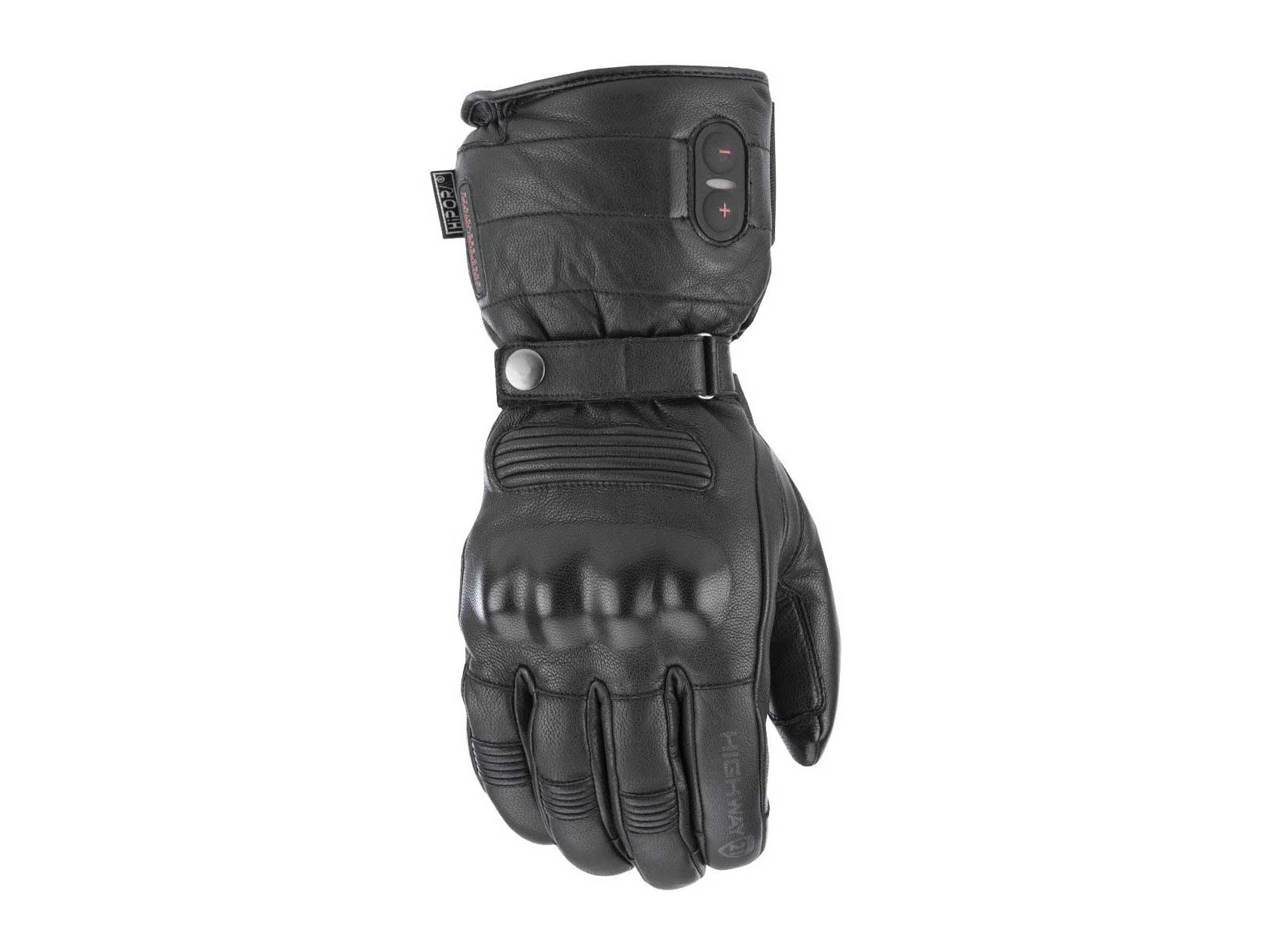 Highway 21Radiant Heated Men's Cold Weather Motorcycle Leather Glove Waterproof Black Size Large