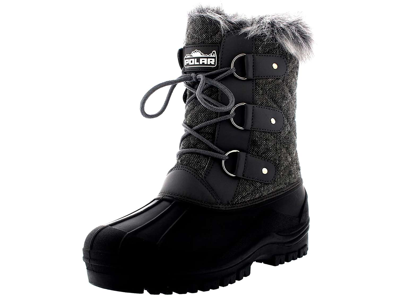 POLAR Women's Mid-Calf Mountain Walking Tactical Boots