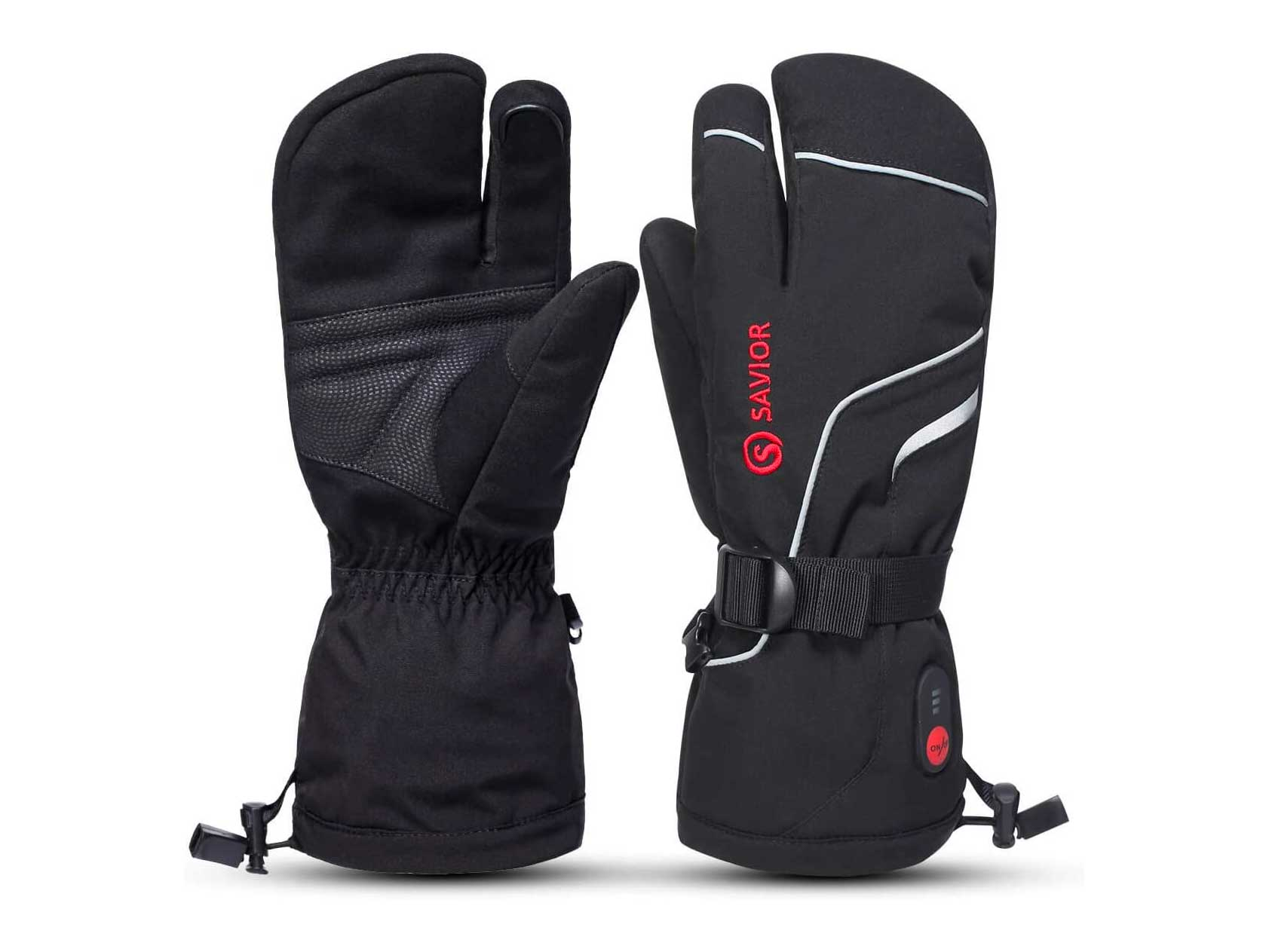 SAVIOR HEAT Heated Ski Mittens, Kids to Adult Unisex, Rechargeable Battery Operated Electric Heating Gloves