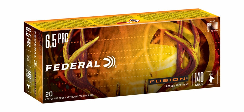 New rifle ammo from Federal Fusion line in 6.5 PRC 140-grain.