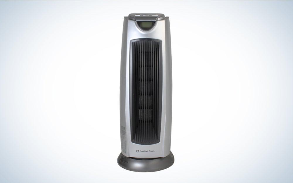 Comfort Zone CZ499R 1500 Watt Ceramic Oscillating Digital Tower Heater