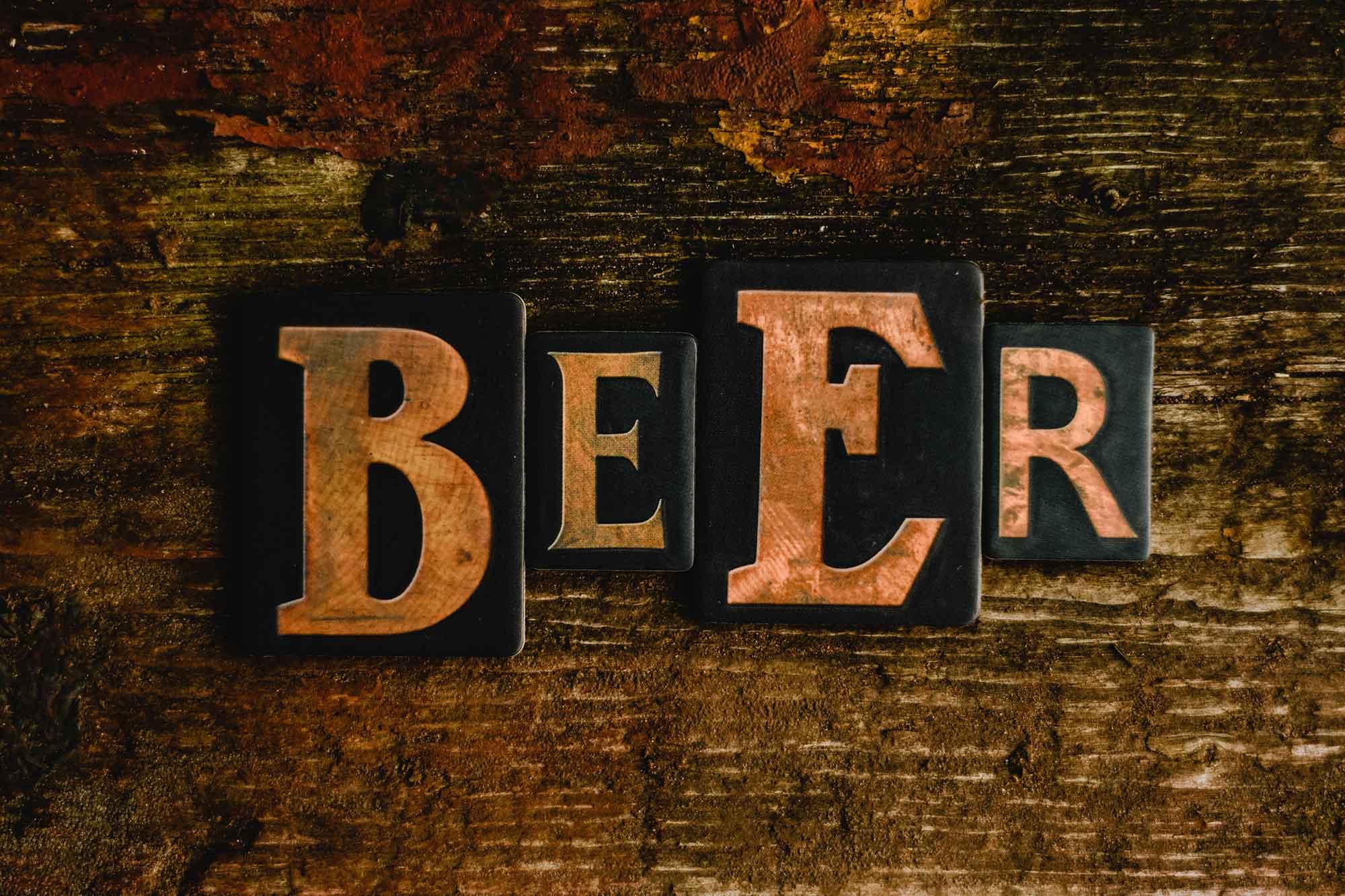 Die-cut beer sign