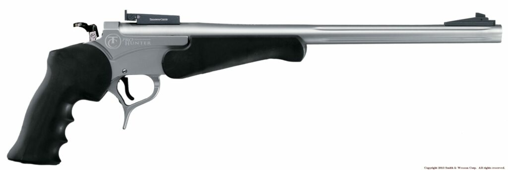 Chambered in .223 and .308, this handgun is capable of hunting a wide variety of game.