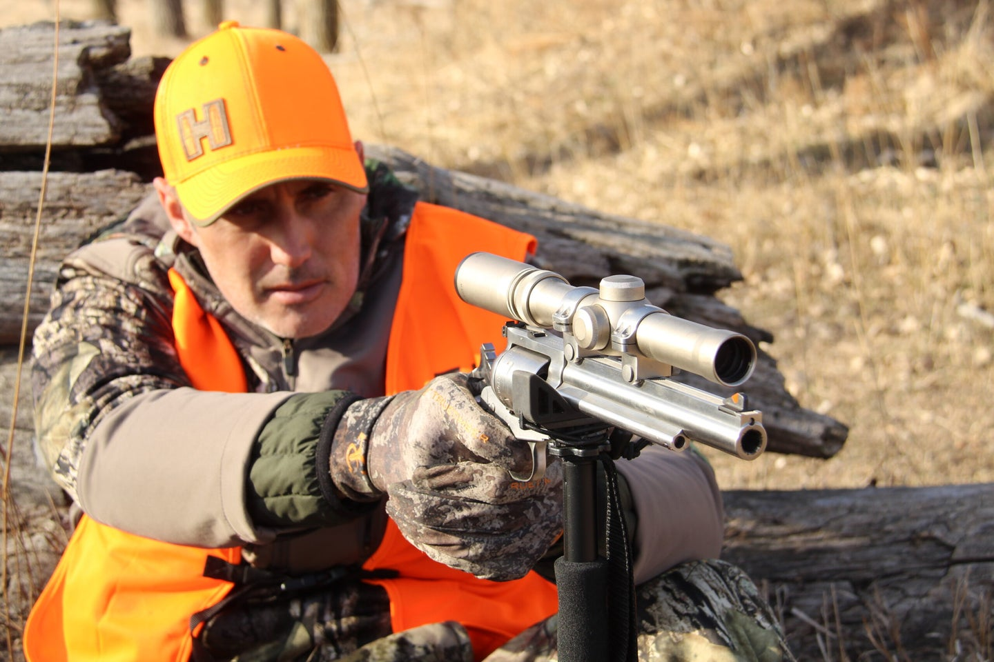 If you want to challenge yourself, try hunting big game with a handgun.