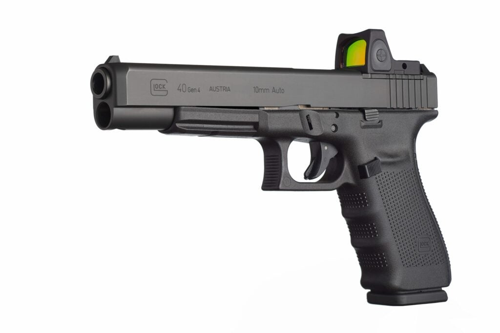 The GOS is relatively light for a hunting handgun.