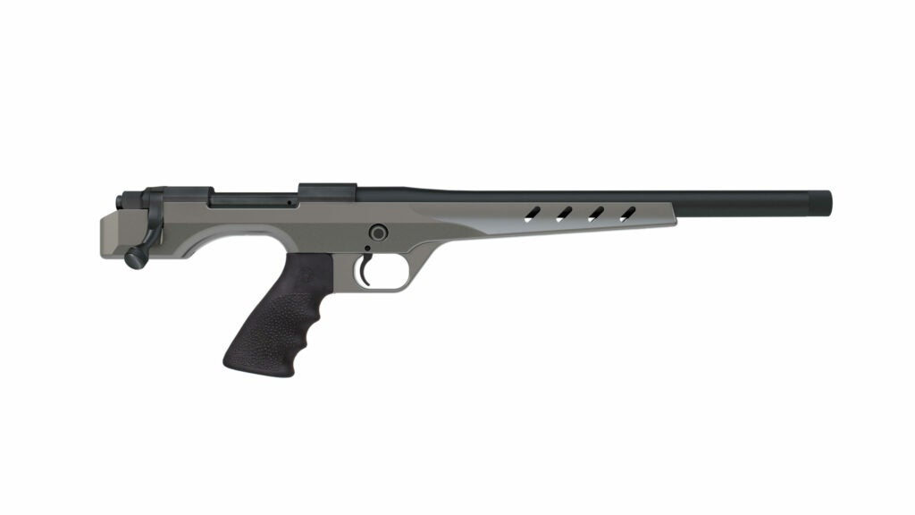 This unique bolt-action platform allows shooters to get more distance out of their hunting handgun.