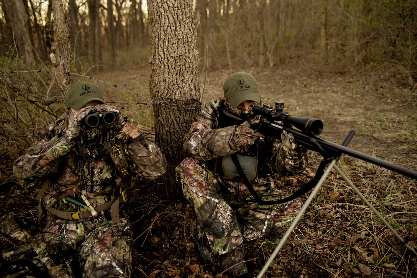 Placing the e-caller in an open area where a predator can find it will make your shot easier.