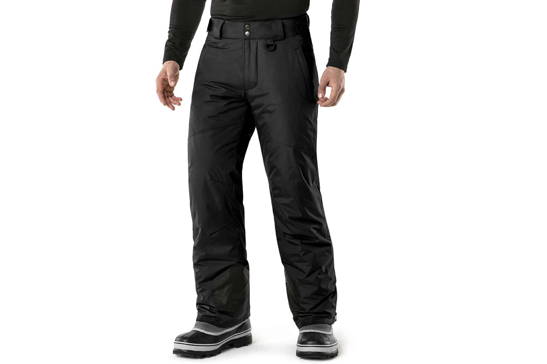 TSLA Men's Winter Snow Pants, Waterproof Insulated Ski Pants, Ripstop Windproof Snowboard Bottoms