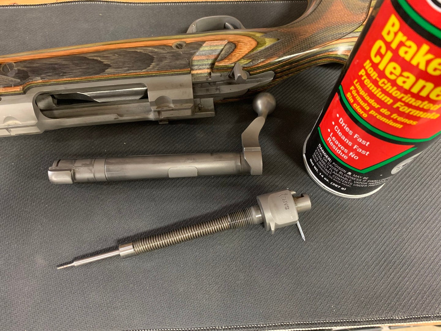 Wipe down your bolt and spray it with brake cleaner to ensure it runs properly in the cold.