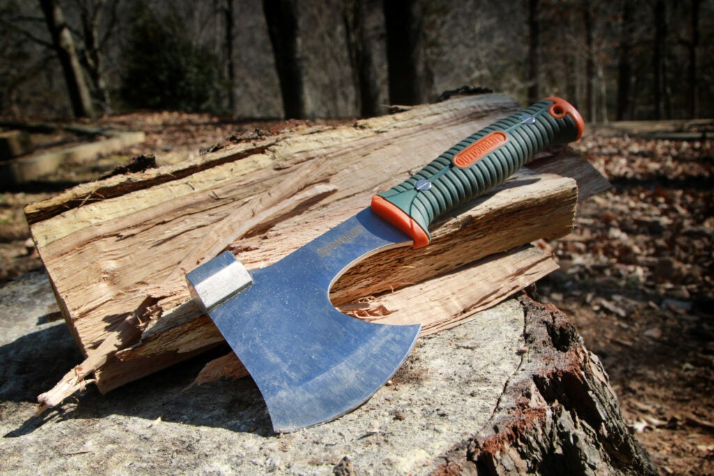 A good, packable, small-size camping and hunting camp axe.