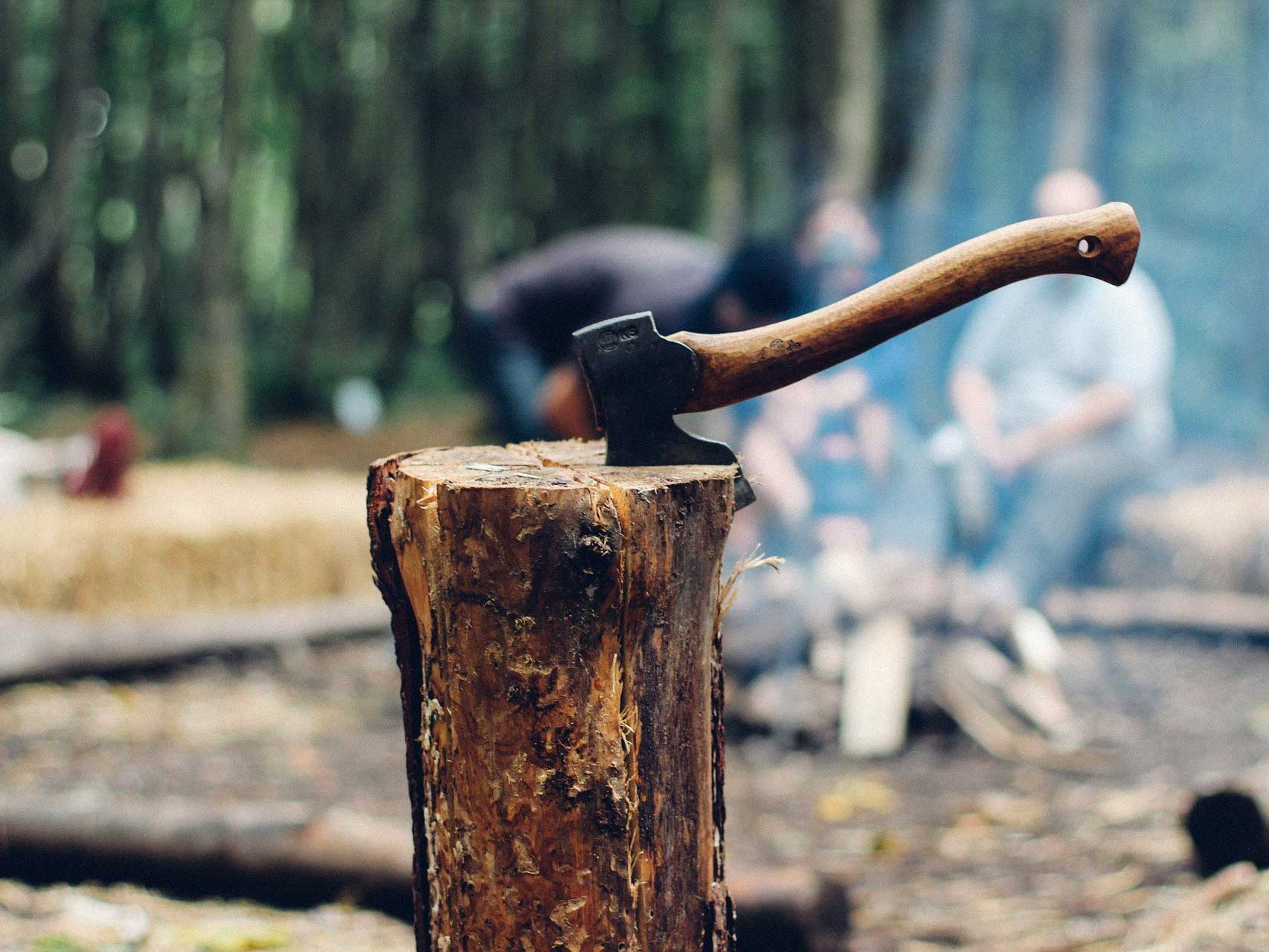 The best hatchet in a block of wood