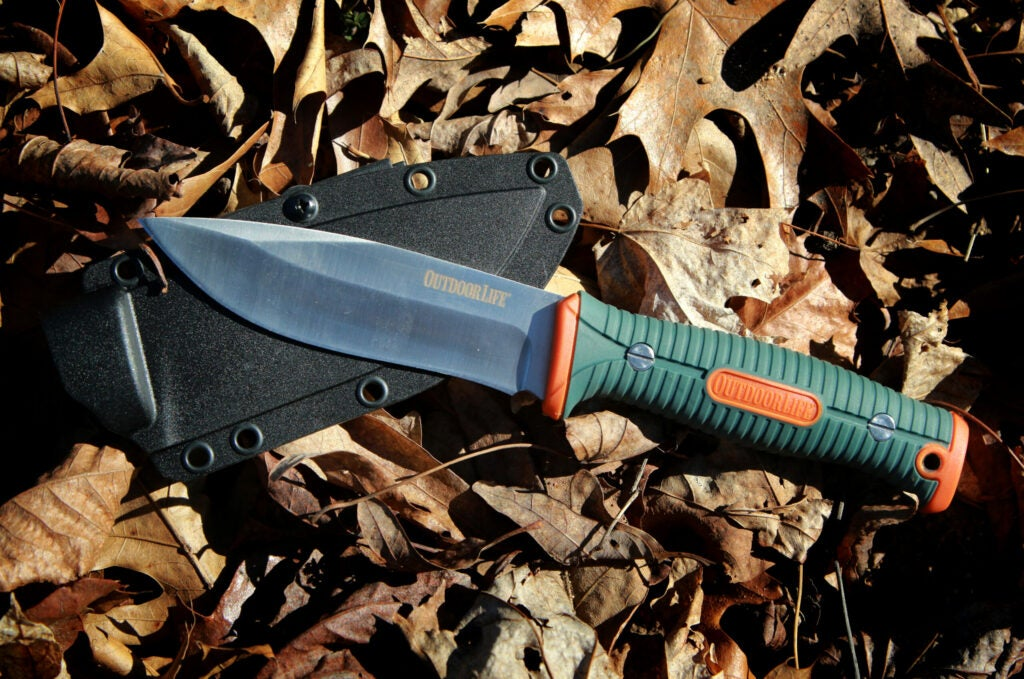 A fixed-blade camping and hunting knife by Outdoor Life.