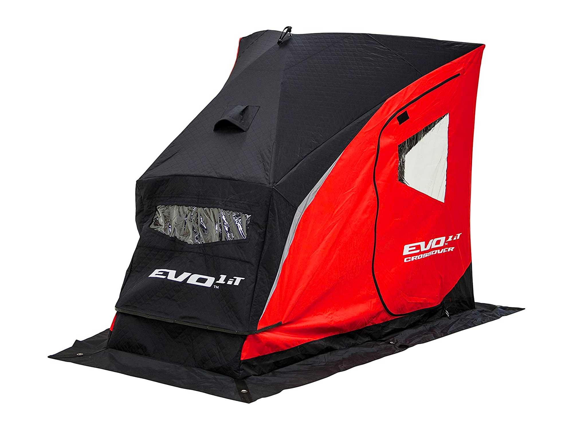 Eskimo Evo Series Portable Flip Style Ice Shelter with Pop Up Hub Sides
