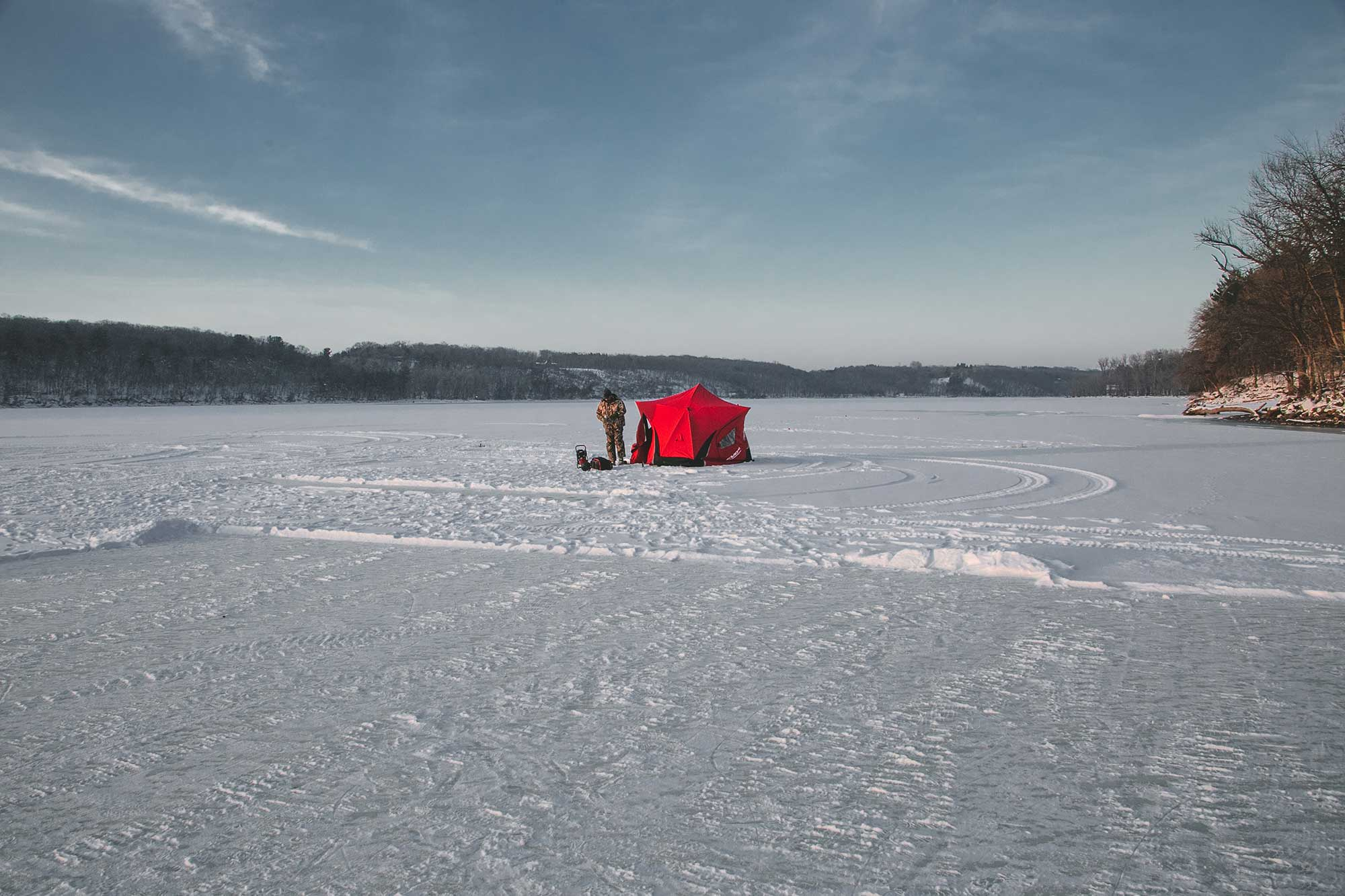 the best ice fishing shelter out on the ice