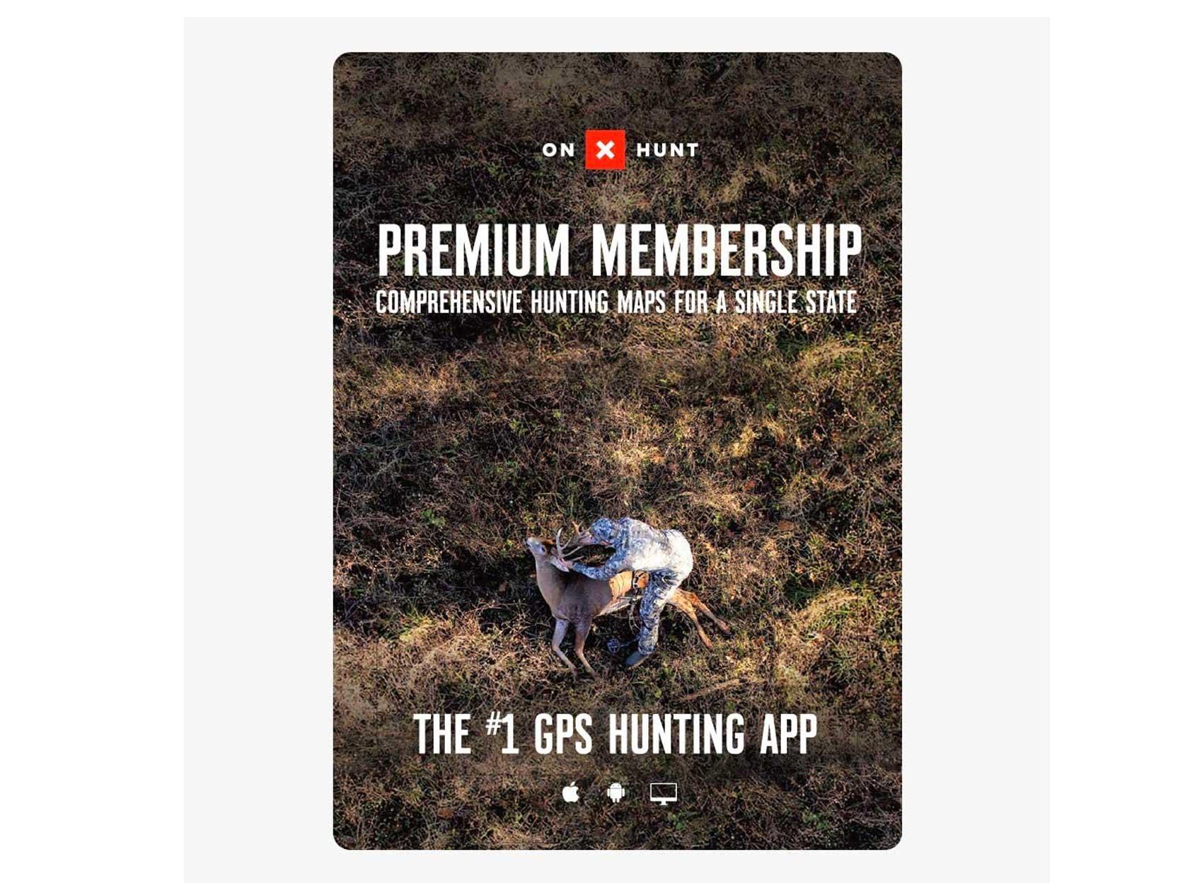 onX Hunt Premium App: Digital Map Membership for Phone, Tablet, and Computer