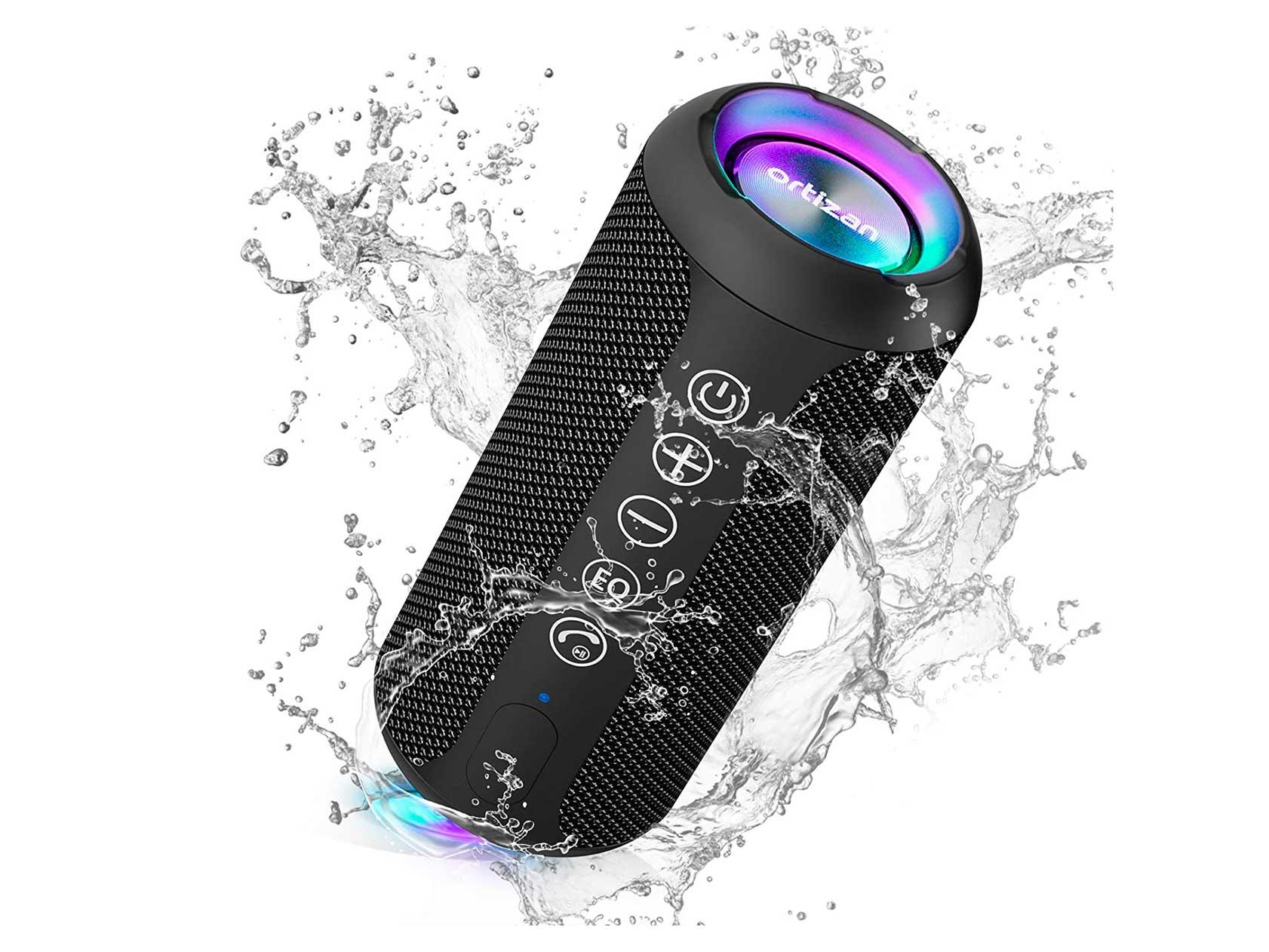 Ortizan Portable Bluetooth Speaker, IPX7 Waterproof Wireless Speaker