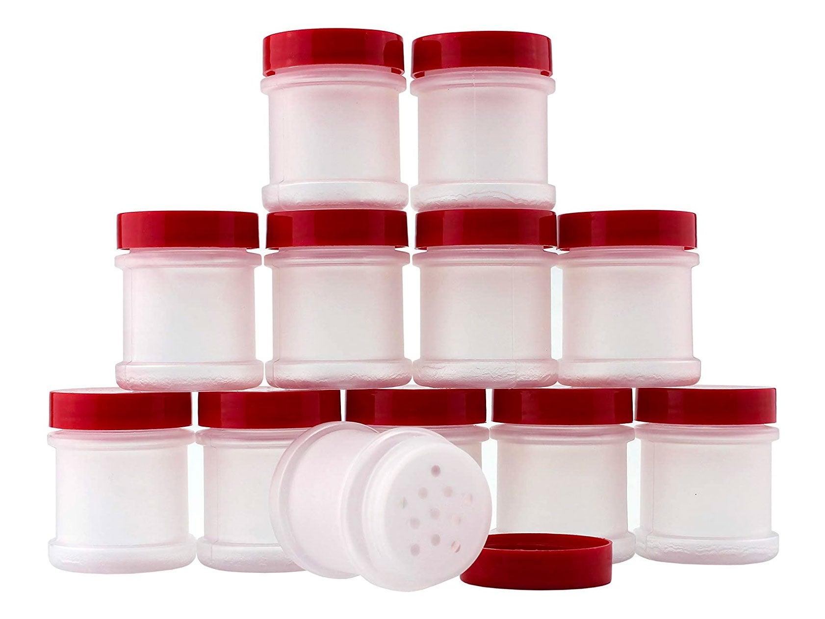 Mini Plastic Spice Jars w/Sifters