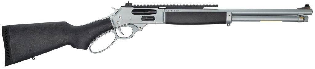 The Henry All-Weather Picatinny Rail Side-Gate .45-70 lever-action rifle.