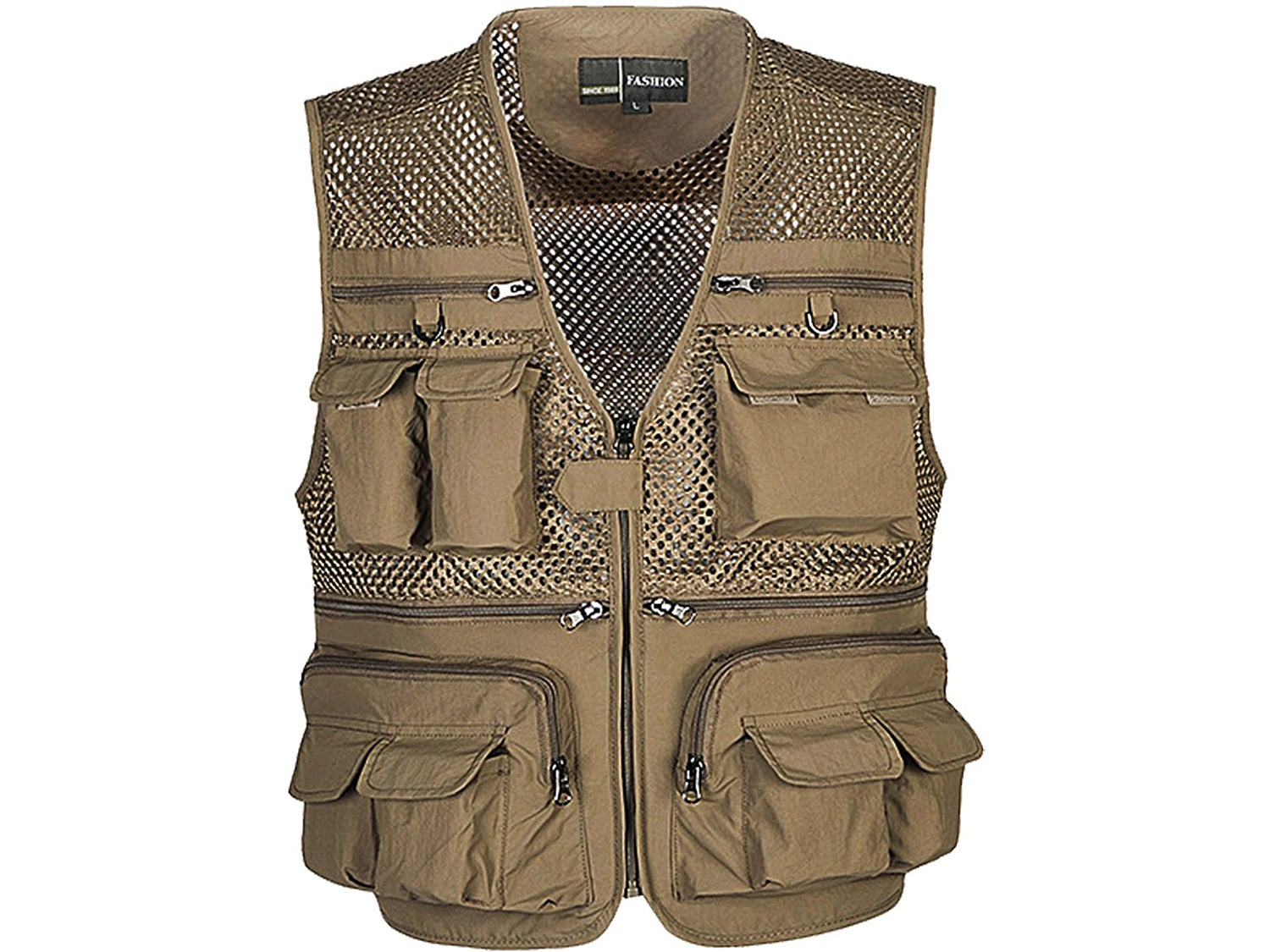 Flygo Mens Summer Outdoor Work Safari Fishing Travel Photo Vest