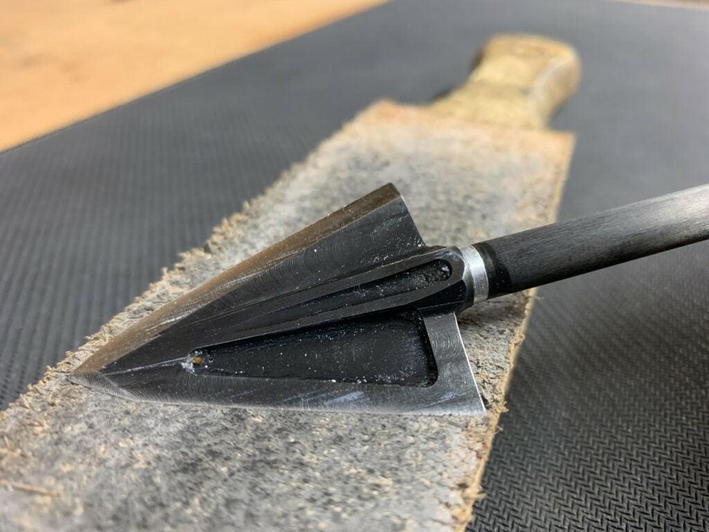 Use a strop to keep a sharper edge on broadheads.