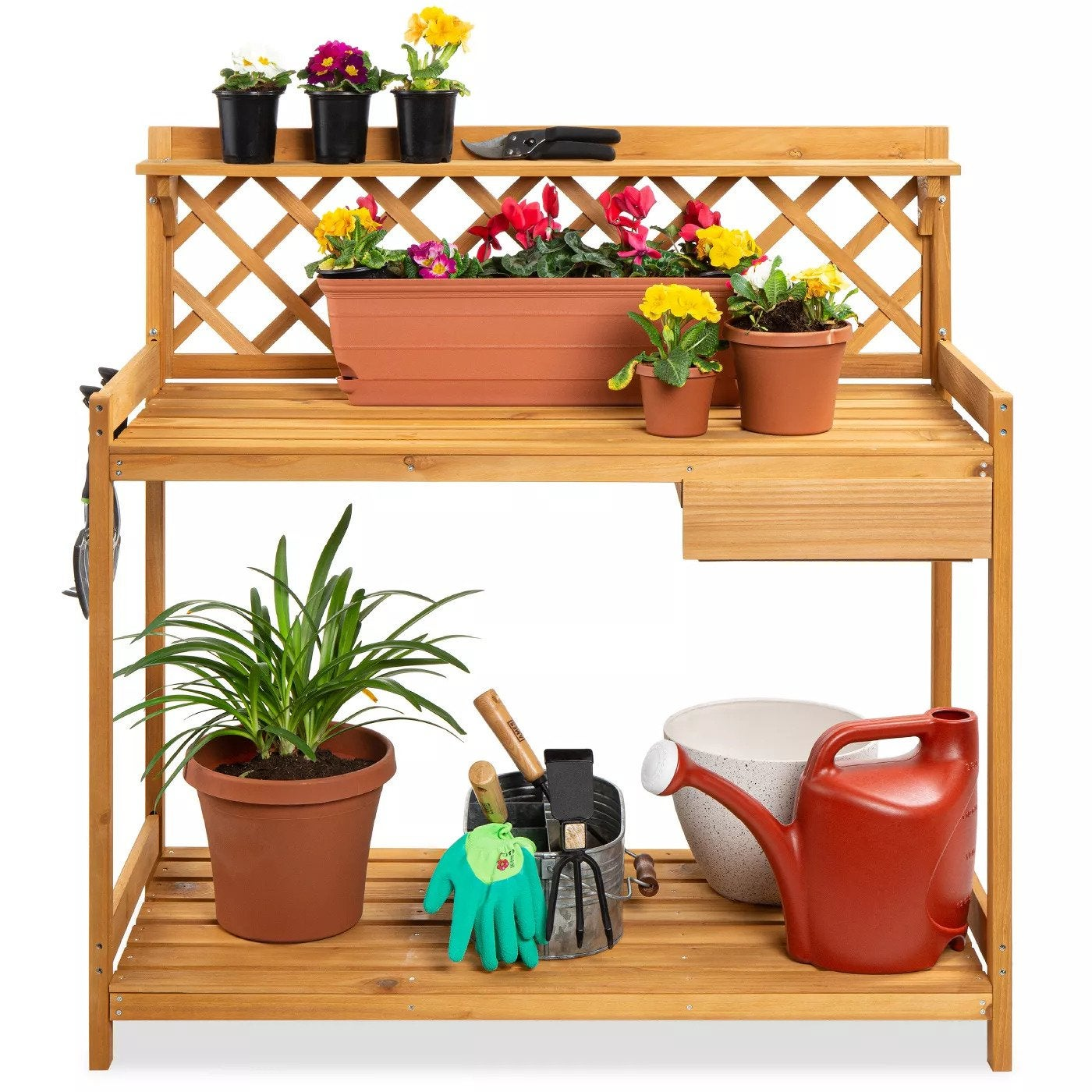 Best Choice Products Outdoor Wooden Garden Potting Bench