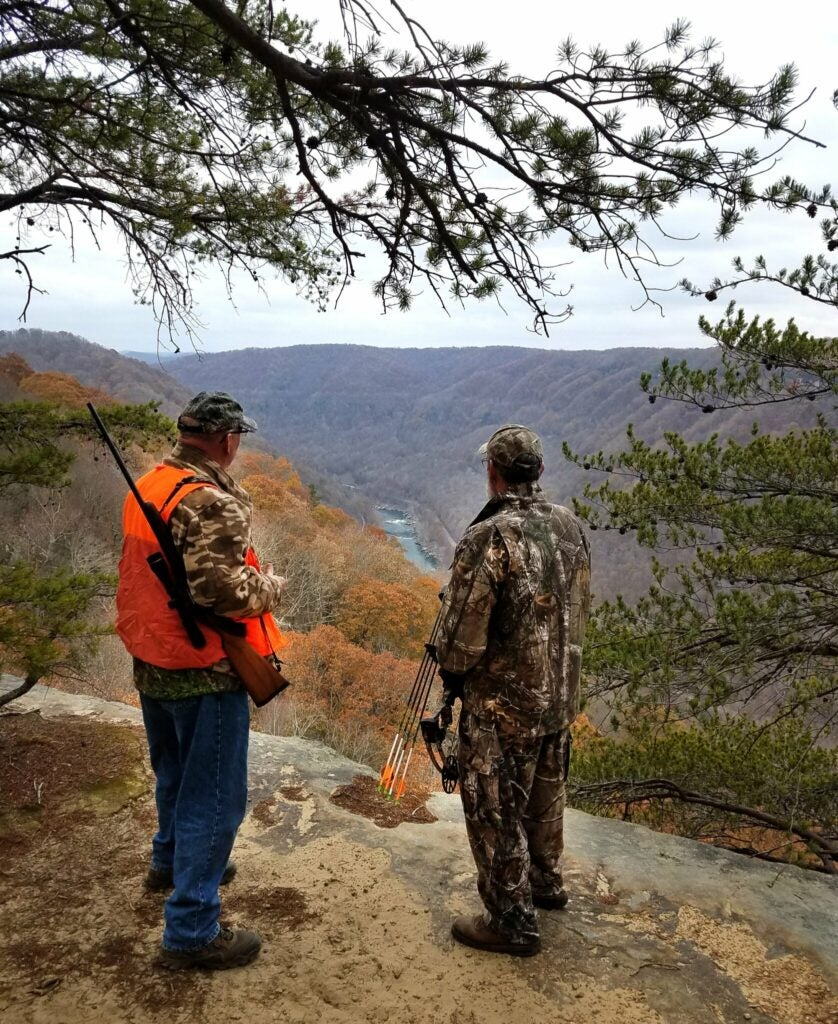A scenic overlook in the New River Gorge that's now closed to hunting.