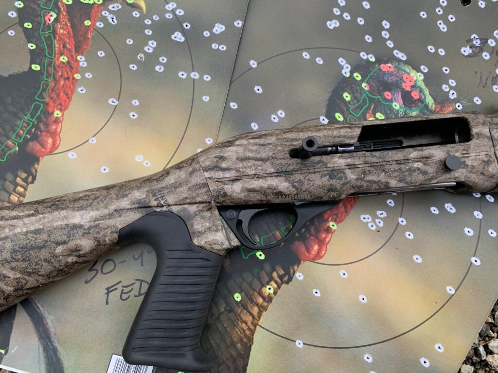 The Franchi Affinity shot high at 40 and 50 yards which made it difficult to pattern.