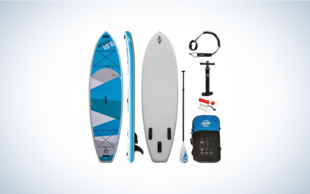 paddleboard with paddle