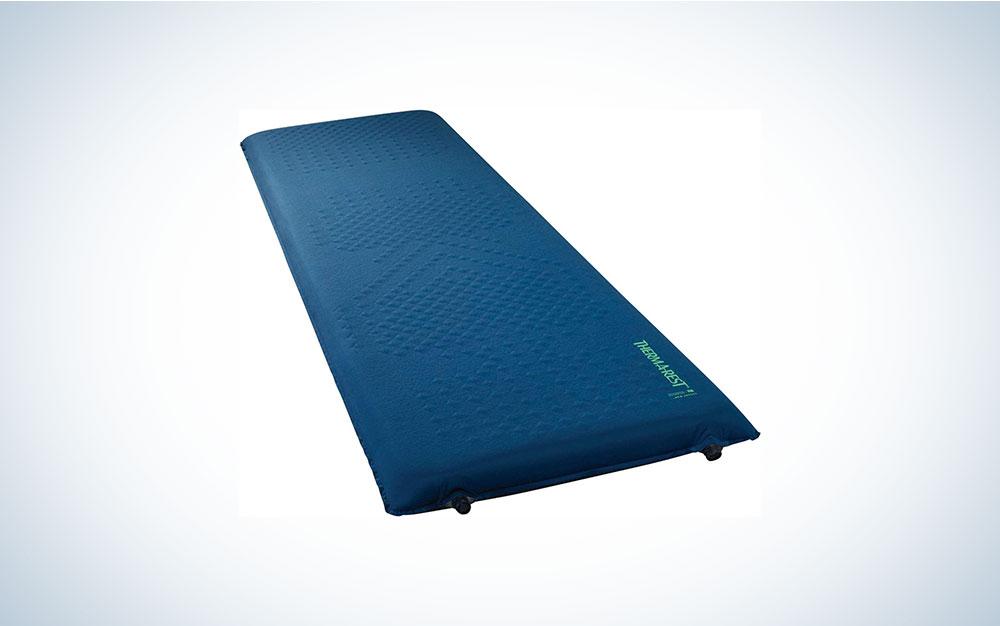 blue sleeping mat