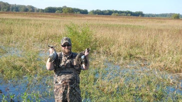 A successful day teal hunting on Illinois public land.