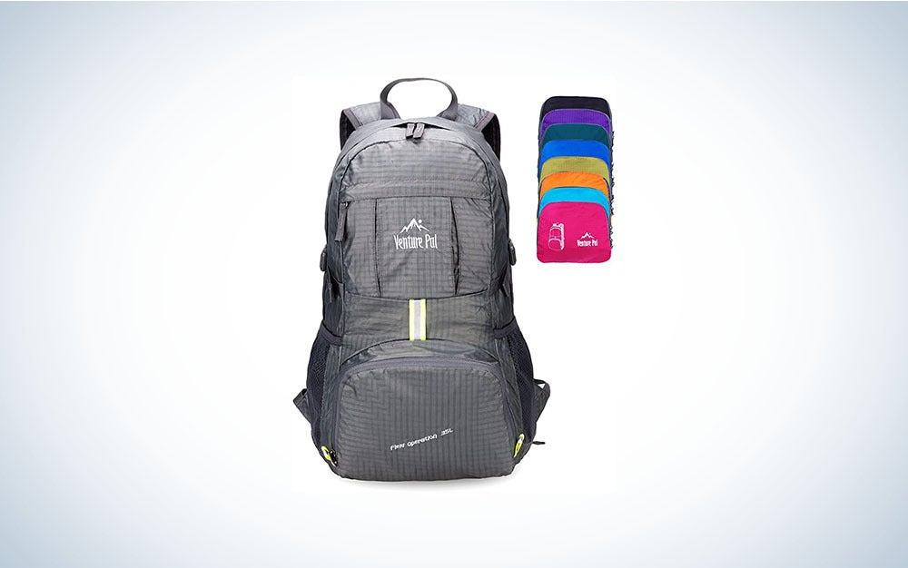 Gray daypack.