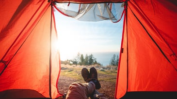 A tent and camping gear father's day gifts