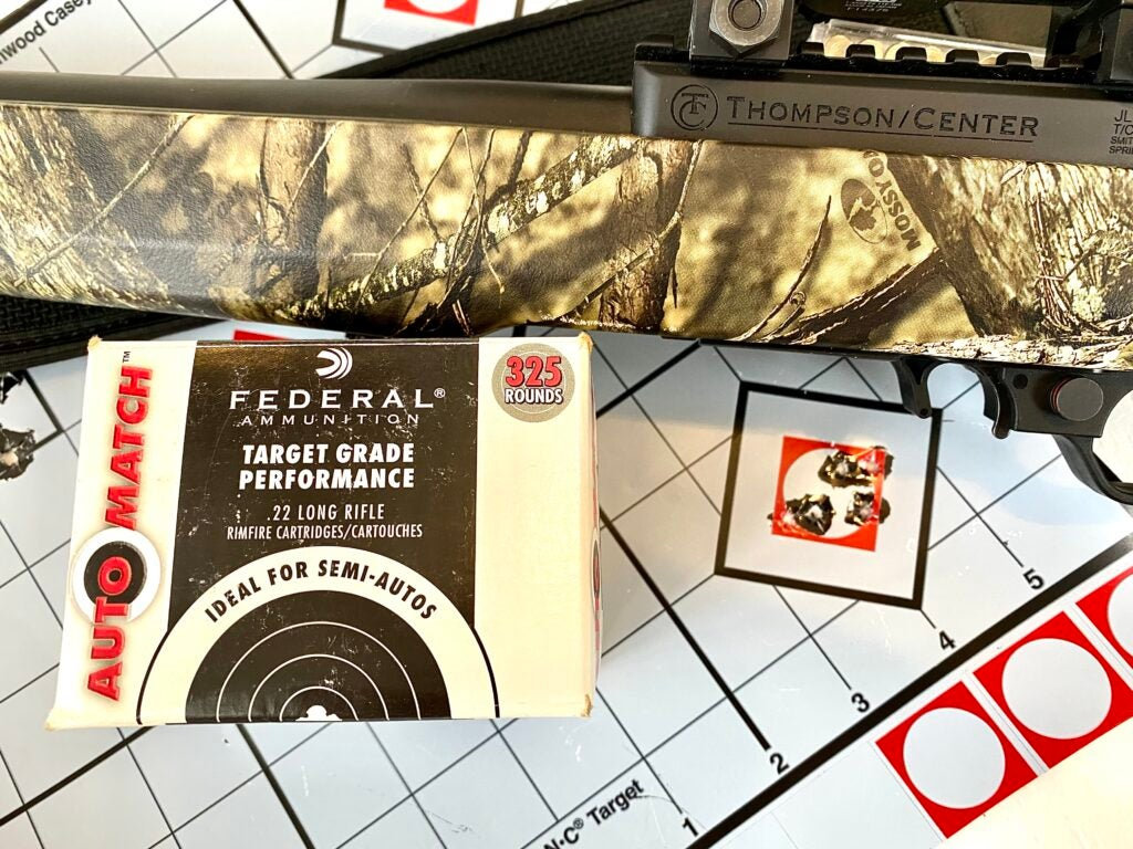 thompson center rimfire accuracy federal auto match .22LR ammunition