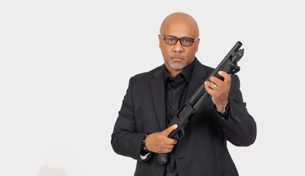 A portrait of Philip Smith, founder of the National African American Gun Owners Association.