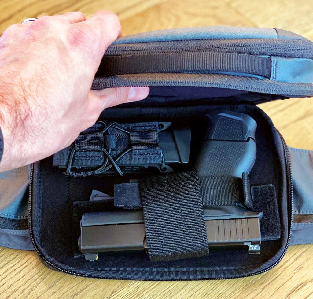 SOG surrept waist pack concealed pistol