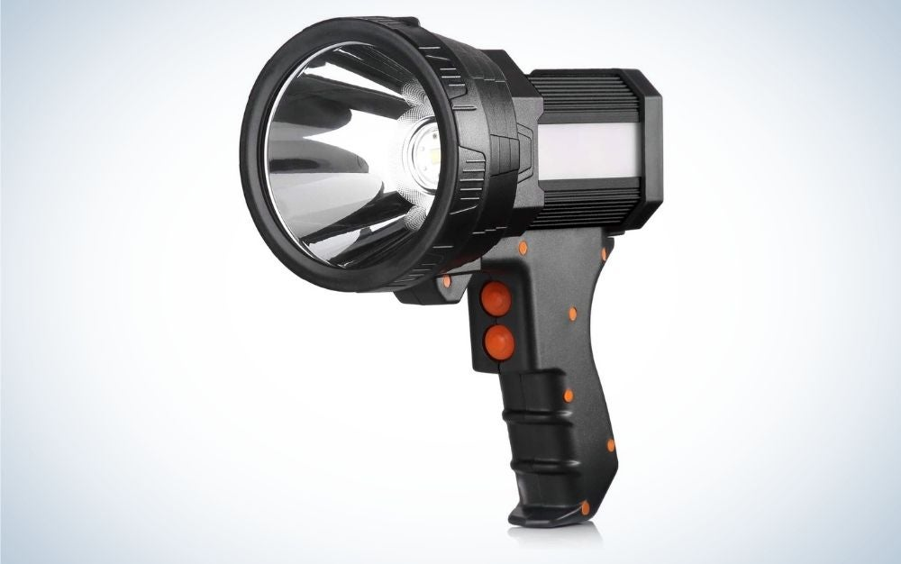 Aluminium alloy black camping light with an easy switch to press