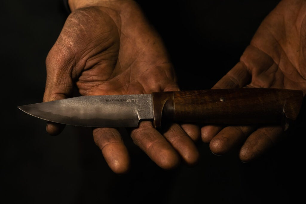 A finished, Join or Die knife.