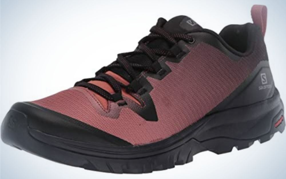 Thick black women's hiking shoes
