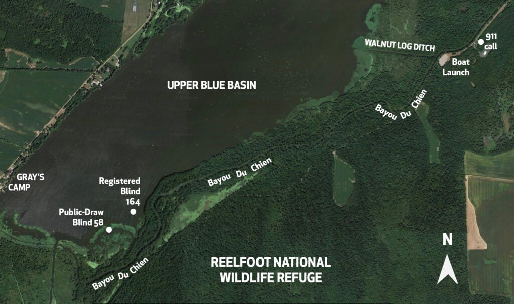 A map of what happened at Reelfoot Lake, Upper Blue Basin