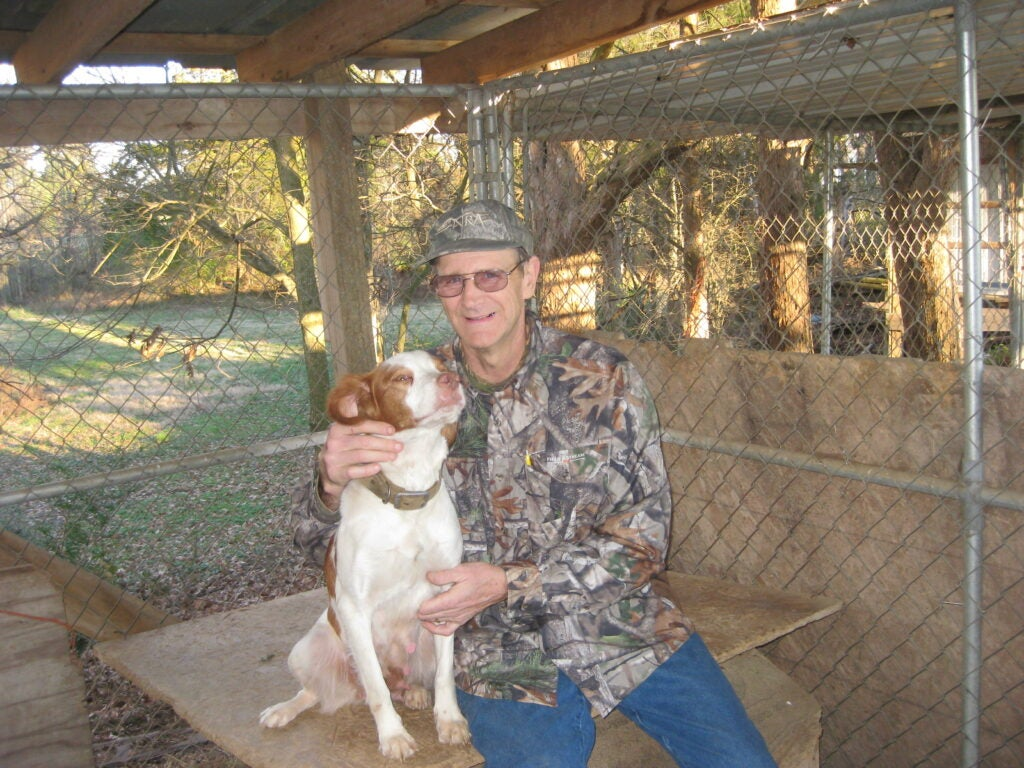 David Vowell with his dog.