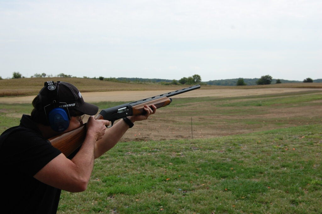 Shooting skeet with the A390.