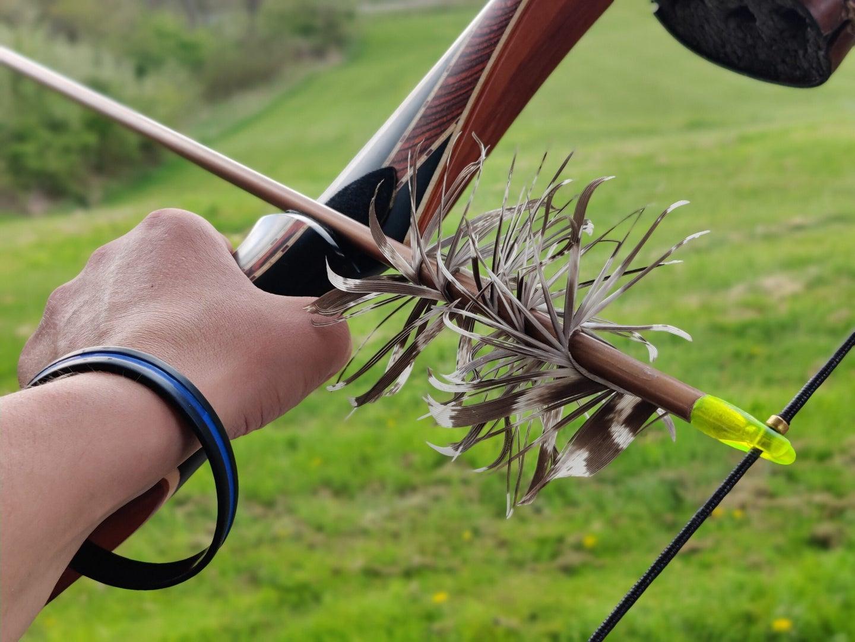 Turkey feathers make great fletching for flu-flu arrows