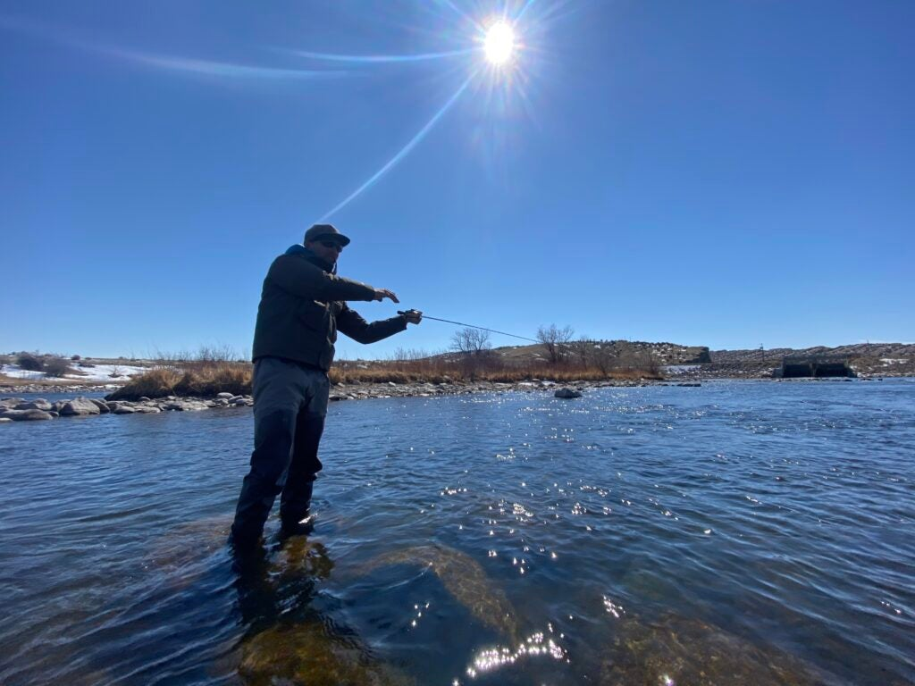 Wade fishing for spawning trout is an ethical dilemma.