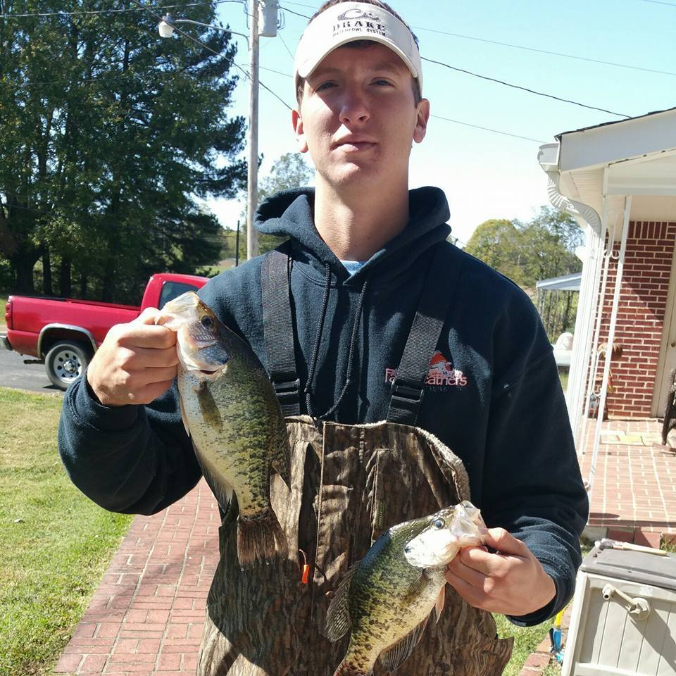 Zack Grooms with panfish.