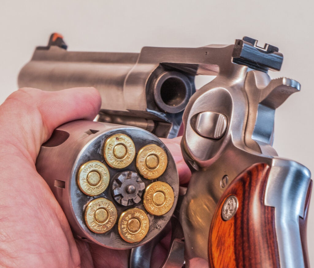 The .44 Mag might not be the best defensive carry option given its size, even if it is a powerful revolver.