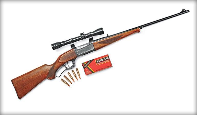 The Savage 99 lever gun.