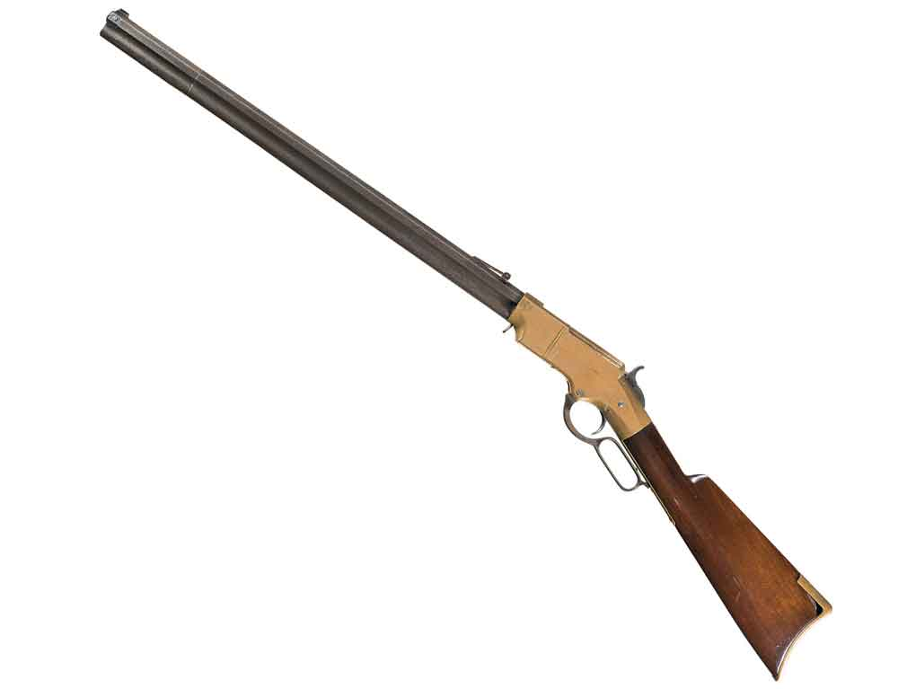 The 1860 Henry lever gun.
