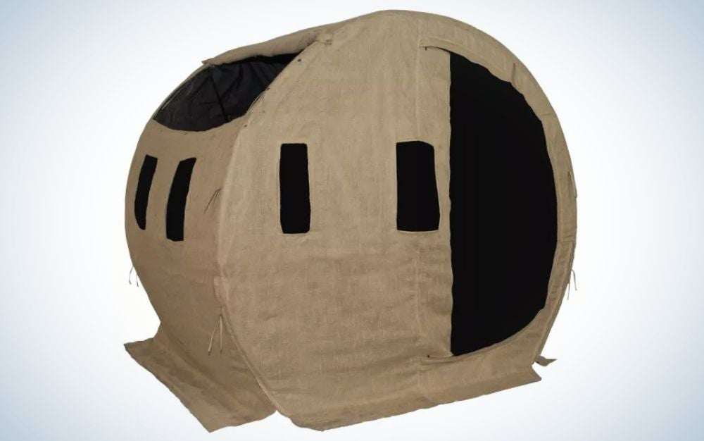 Bale ground blind for duck or deer hunting