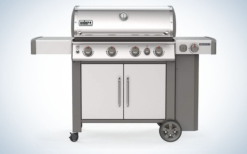 Stainless steel, gas grill with wheels father's day gifts for the dad who loves to grill